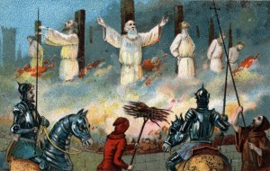 Image: 0051465001, License: Rights managed, Restrictions: Image available for use in the Corbis Education Offering., Jacques de Molay, last Grand Master of the Knights Templar, was ordered burned at the stake by King Philip IV of France. Illustration from the end of the 19th century., Place: Paris, France, Model Release: No or not aplicable, Credit line: Profimedia.com, Corbis