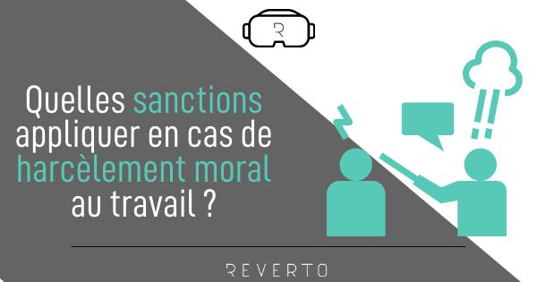 Harcèlement moral et sanctions