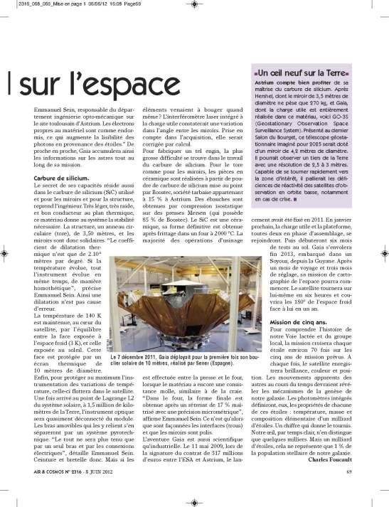AiretCosmos 2012-06-08numero 2316 pages 68-69 Satellite GAIA_Page_2