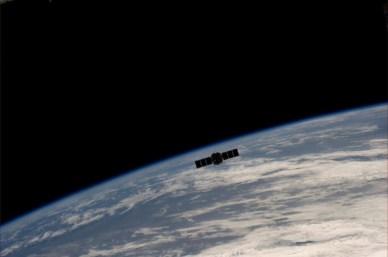 Cygnus après son départ de l'ISS (source NASA)