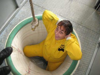 """ça c'est moi avant le plongeon dans """"la chaussette"""" !"""