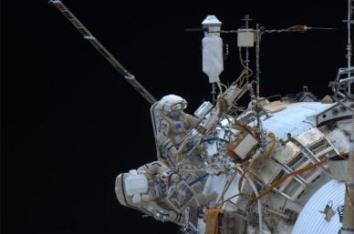 EVA 37 (source Rick Mastracchio, astronaute dans l'ISS)
