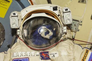la combinaison russe Orlan de sortie dans l'espace