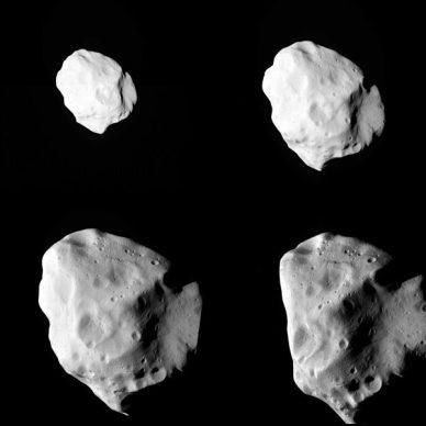 L'astéroïde Lutetia prise en photo par Rosetta (source ESA)