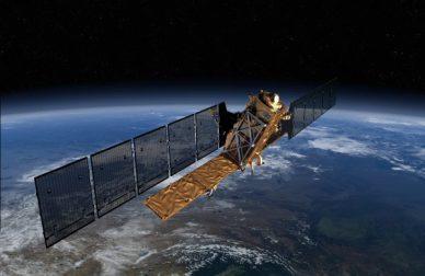 Vue d'artiste du satellite Sentinel 1 (source ESA)