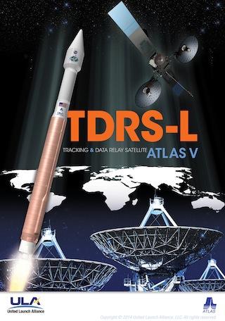 Poster de la mission TDRS-L (source spaceflightnow.com)