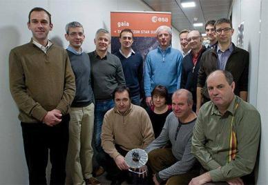 L'équipe de Toulouse lors des phases de recette en volde Gaia (source : AirbusDS)