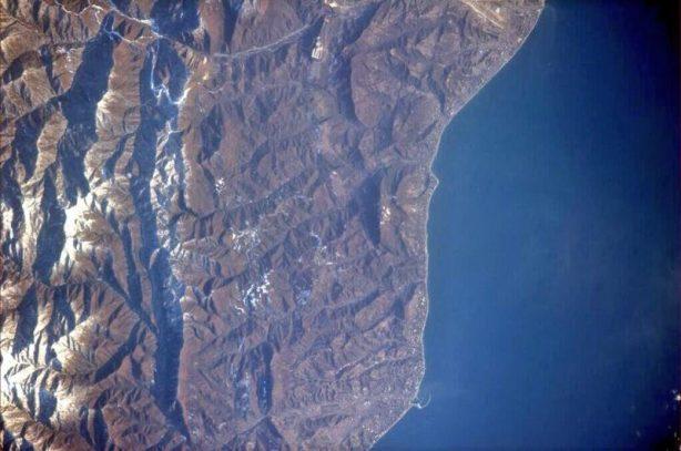 Sochi vu depuis l'ISS (source : Rick Mastracchio / NASA)