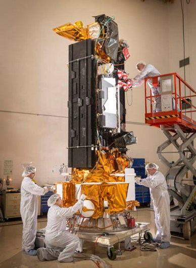 DMSP 19 juste avant sa mise sous coiffe (source Lockheed Martin)