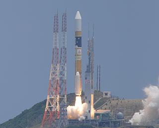 Décollage de la fusée HII-A du 24/05/14 (source twitter)
