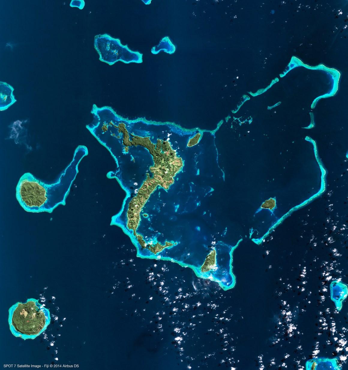 Image satellite SPOT 7 - Fidji - 03/07/2014 Résolution: 6m Copyright: Airbus DS/ Spot Image 2014