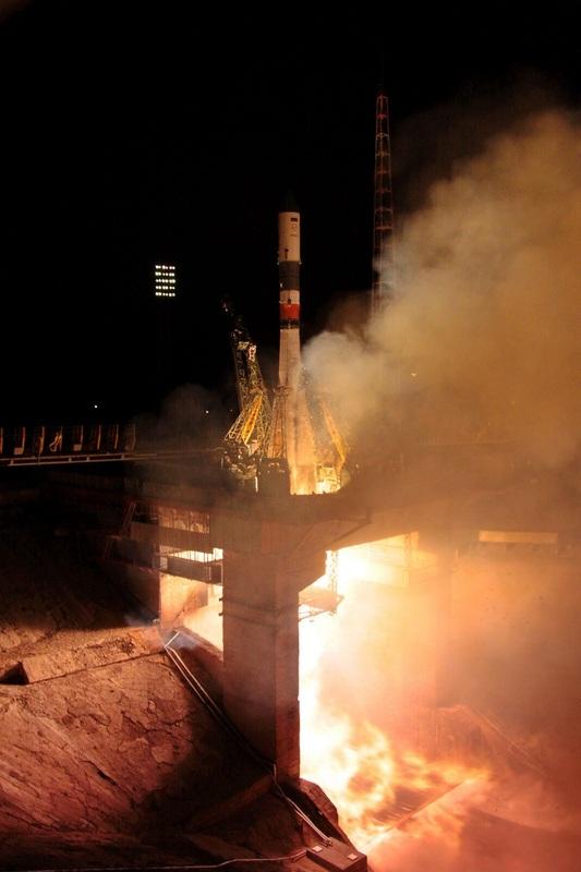 Décollage de la Soyouz emportant le cargo Progress M24-M le 23/07/14 (Photo: Roscosmos)