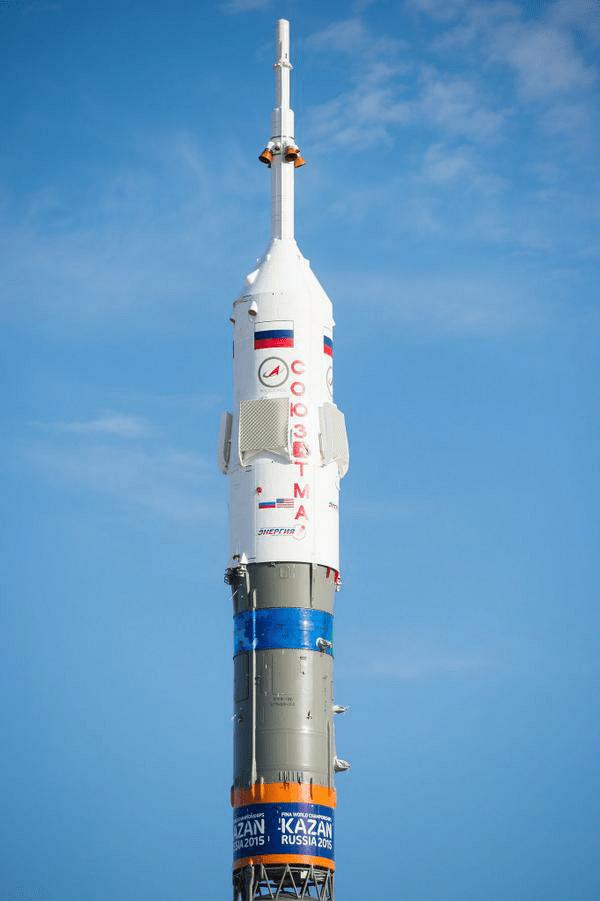 Soyouz TMA-14 sur le pas de tir (source NASA)