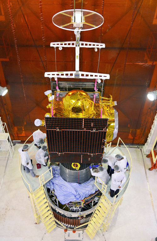 Le satellite IRNSS-1C (source ISRO)