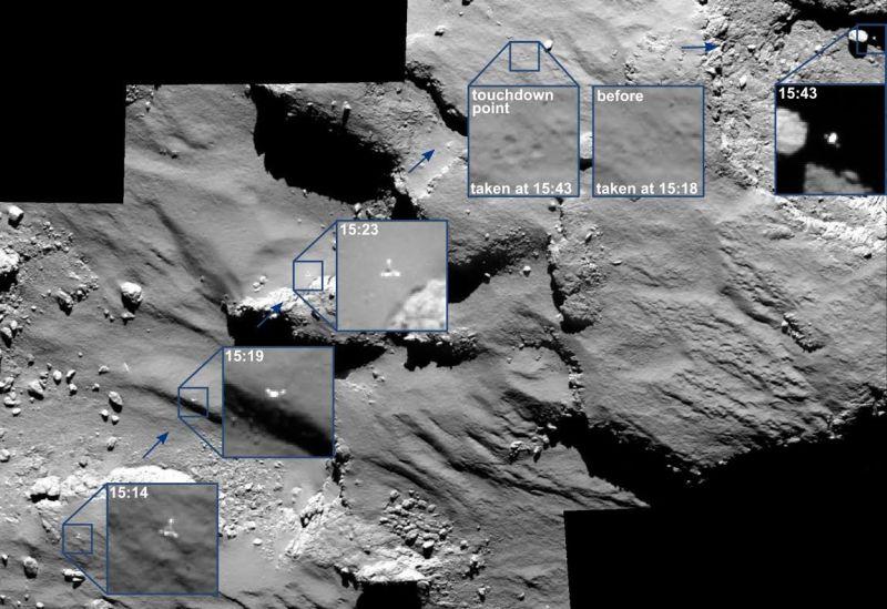 Crédit ESA/Rosetta/MPS pour OSIRIS regroupent MPS/UPD/LAM/IAA/SSO/INTA/UPM/DASP/IDA