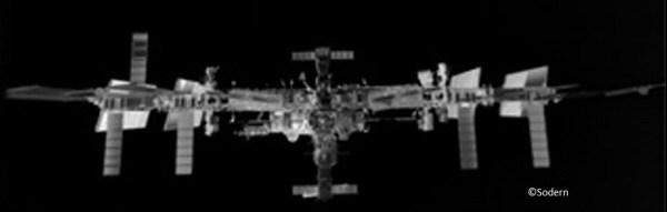 Image prise par l'ATV 5 par son système LIRIS le 12/08/14 (crédits ESA/Sodern)