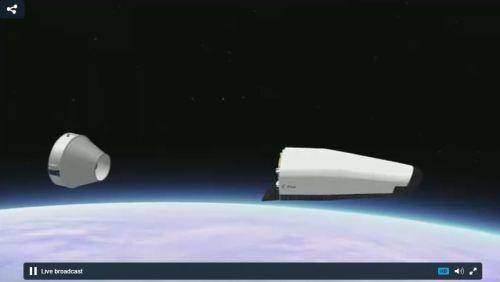 Capture d'écran de la retransmission du lancement VV04