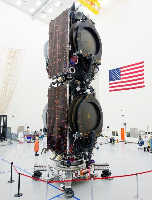 Eutelsat 115 West B & ABS 3A assemblés pour le ur lancement (crédit Boeing)