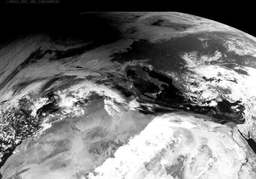 Zone d'ombre au-dessus de la Norvège photographiée par Meteosat 8 (credit Eumetsat)