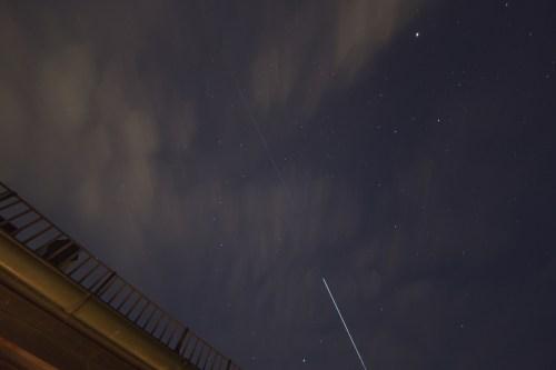 L'ISS suivi du Dragon SpX6 pris en photo par mon amie Anne depuis Munich le 15/04/15