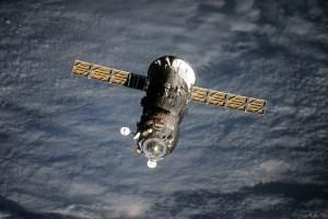 Progress M-23M lors de son départ de l'ISS le 21.07.2014 (Crédits : Oleg Artemyev/Roscosmos)