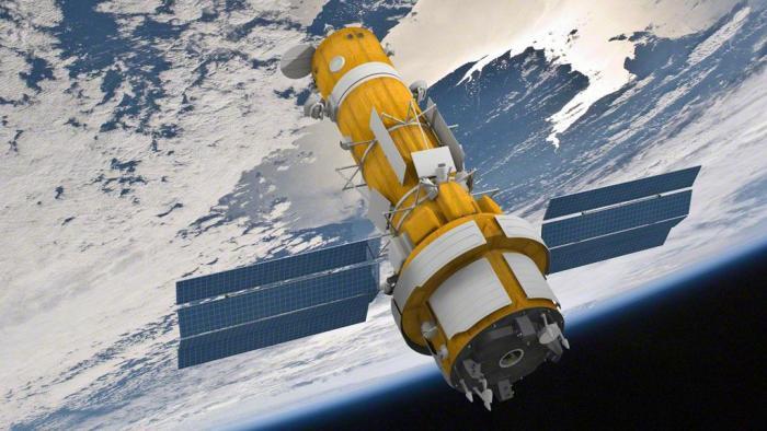 Vue d'artiste d'un satellite Persona en orbite (Image credit: Anatoly Zak / RussianSpaceWeb.com)