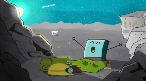 Le réveil de Philae (© ESA)