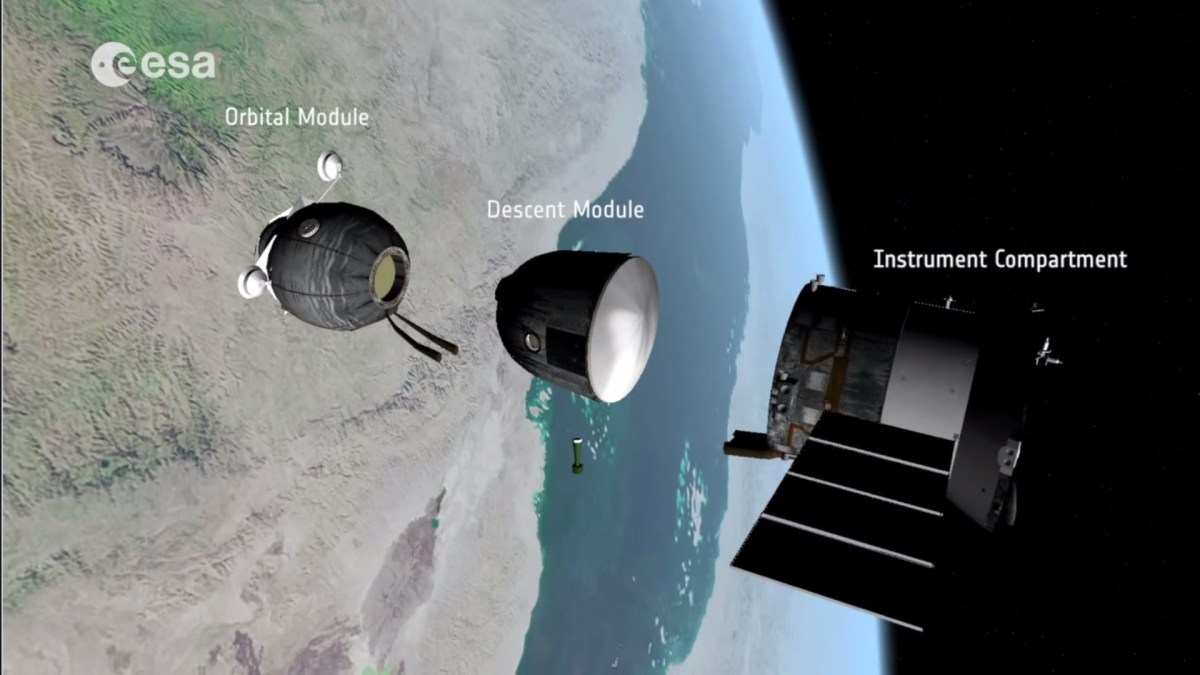 (Crédits : Capture vidéo Soyuz undocking, reentry and landing explained par l'ESA)