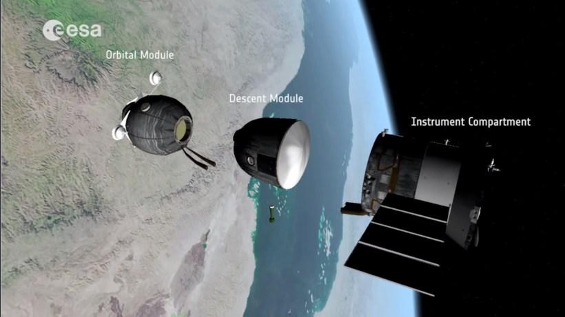(Crédits : Capture vidéo Soyuz undocking, reentry and landing explained par l'ESA)