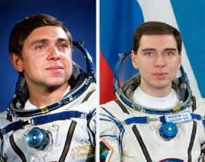 Aleksander et Sergei Volkov, cosmonautes de père en fils (credit Roscosmos)