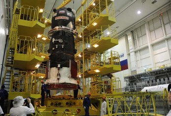 Le cargo Progress MS-01 en cours d'assemblage (credit RSC Energia)