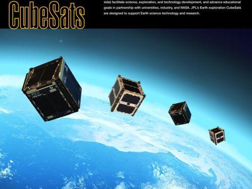 Exemples de cubesats 1U développés par le JPL dédiés à l'exploration de la Terre (credit JNASA/JPL-Caltech)