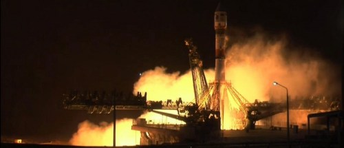 Lancement Soyuz-2.1b / Resurs-P No.3 le 13/03/2016 (Credit: Roscosmos TV)