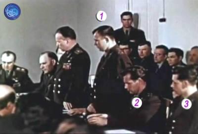 Pour le premier vol habité, Youri Gagarine (1) est désigné comme titulaire du vol, Guerman Titov (2) est sa doublure et Grigori Nelioubov (3) est triplure. (source Tezio, espace-passion)