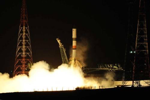 Lancement Soyouz / Progress MS-02 à destination de l'ISS le 31/03/2016 (credit RSC Energia)
