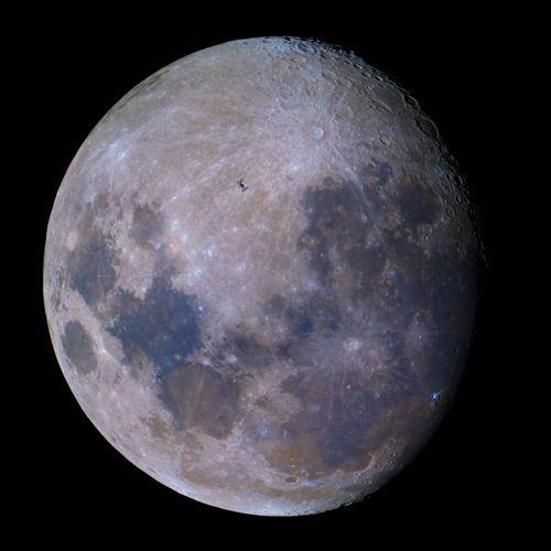 L'ISS devant la Lune par Dylan O'Donnell le 18/06/2016