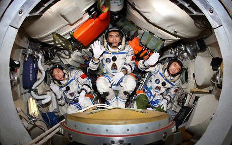 Les 3 taïkonautes de Shenzhou 7