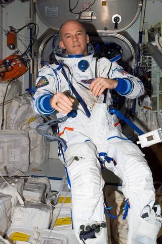 Jeff WIlliams en 2006 pendant l'Expedition 13. (Credits: NASA)