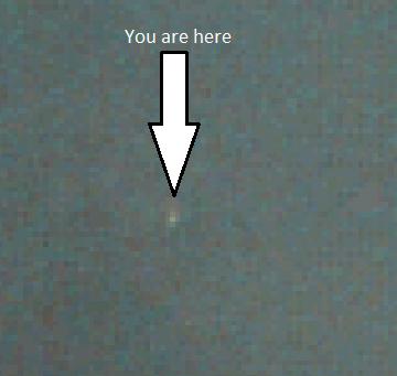 Image de la Terre depuis l'orbite de Mars par la caméra VMC de Mars Express le 03/07/2016 (Credit: ESA/Mars Express/VMC)