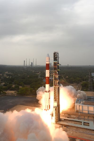 Lancement PSLV / Resourcesat-2A du 07/12/2016 (credit ISRO)