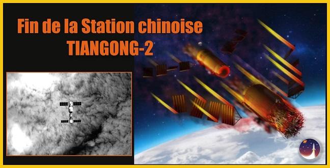 La station spatiale chinoise Tiangong-2, c'est fini !