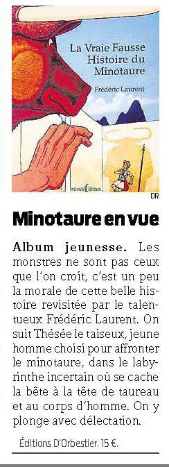 Octobre 2014 La Vraie Fausse Histoire du Minotaure Presse Océan