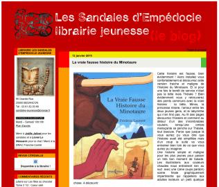 Janvier 2015 La Vraie Fausse Histoire du Minotaure http://librairiesandales.hautetfort.com/archive/2015/01/12/la-vraie-fausse-histoire-du-minotaure-5530347.html