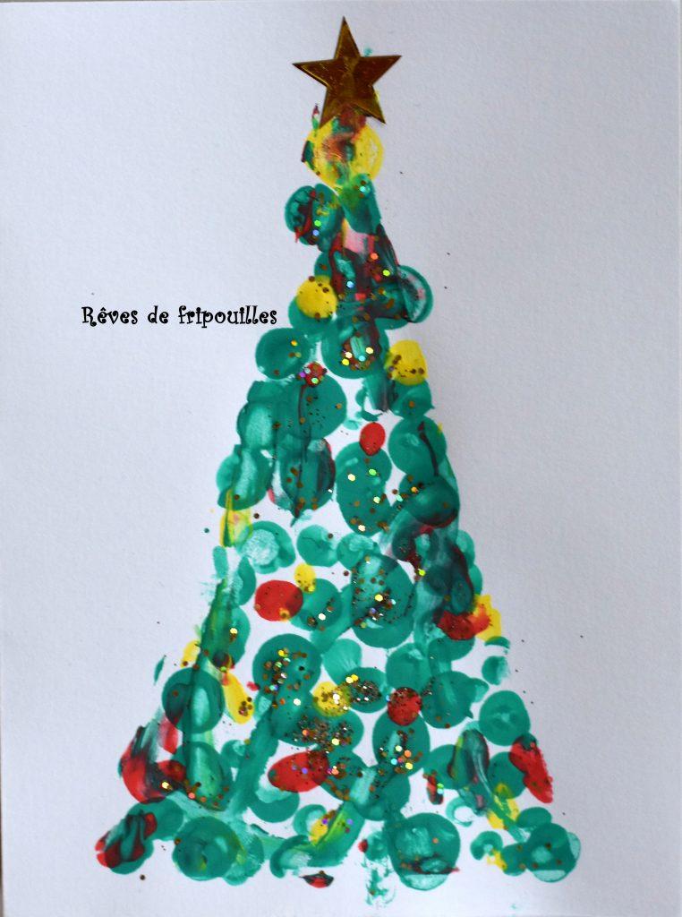 Cartes De Voeux Faciles Sapin De Noel Reves De Fripouilles