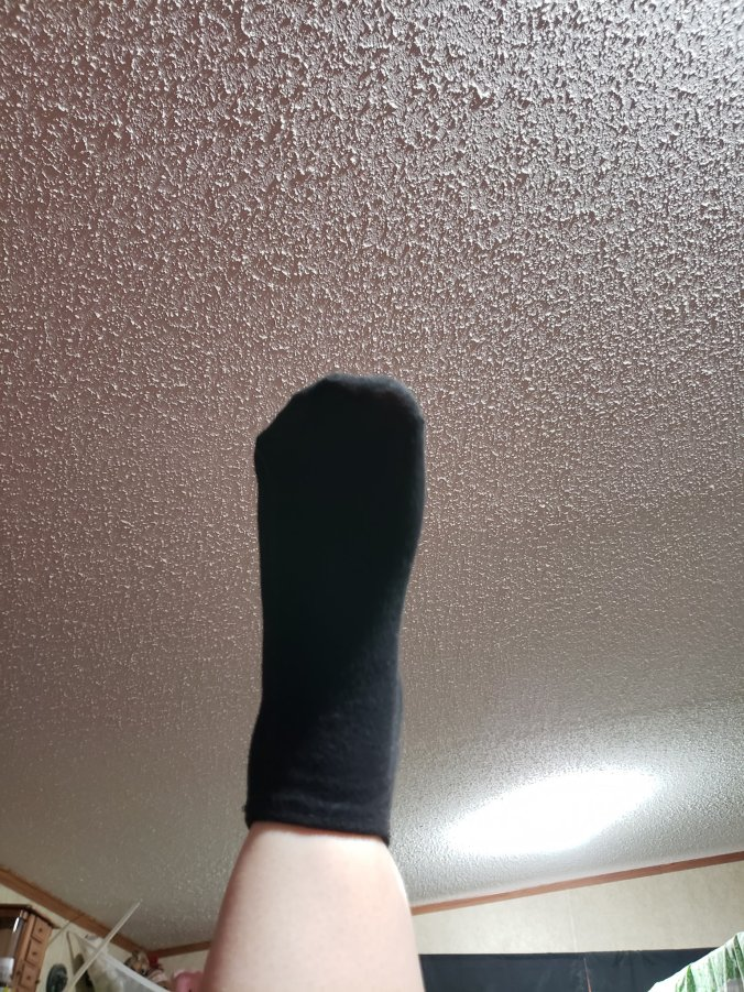 comfortable sock on foot after use of Nu-Pore