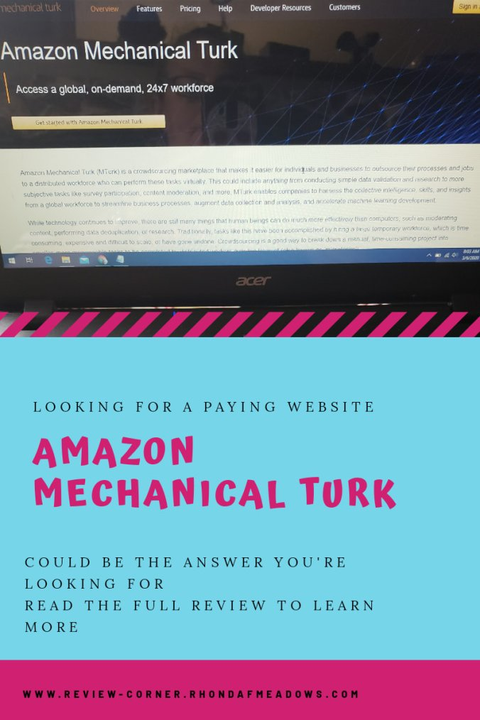 Looking for a website that pays you? Amazon Mechanical Turk might be the answer!