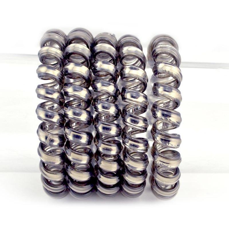5 Pcs / Lot 5.5CM Gun Black Hair Accessories Telephone Cord Phone Plastic Strap Hair Band Hair Rope Hair Ties Headbands