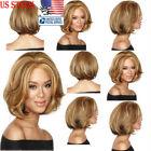 Short Wavy Bob Natural Hair Wigs Brazilian Brown Hair Women Full Lace Front Wigs