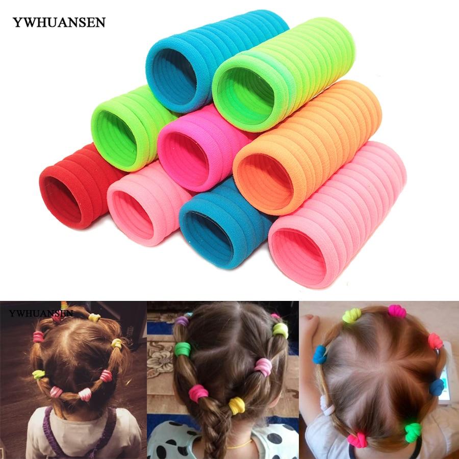 YWHUANSEN 20/40 PCS Hair Accessories for girls Scrunchies Elastic Hair Bands children decorations Headdress Gum for hair ties