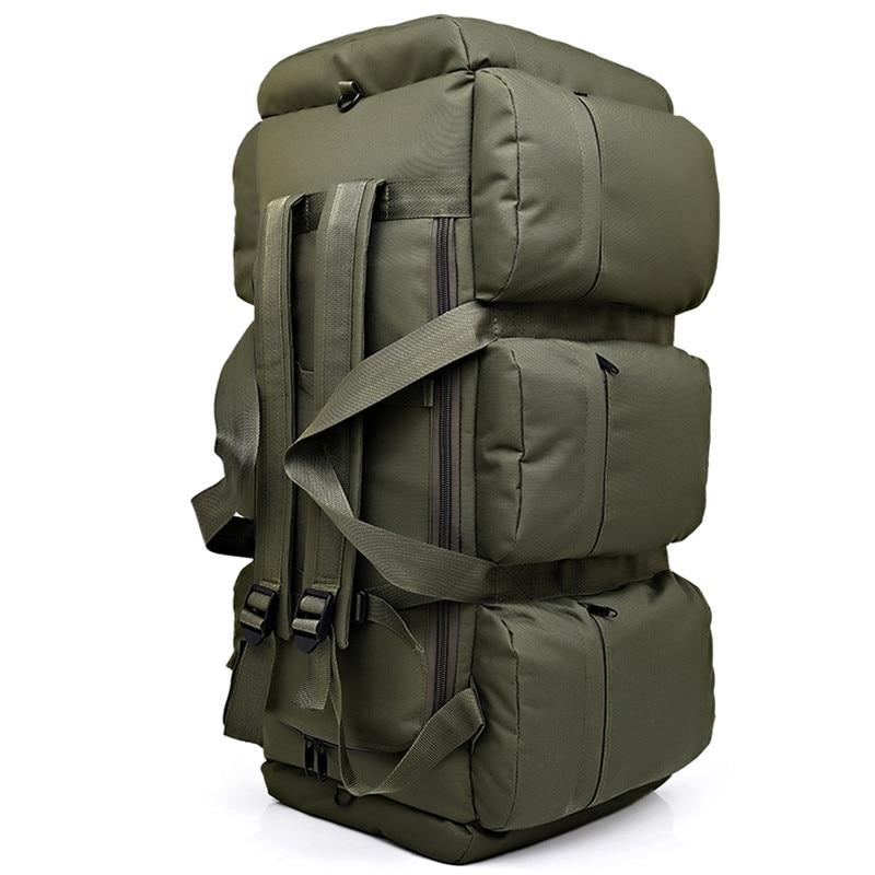 90L Large Capacity Men's Military Tactics Backpack Multifunction Waterproof Oxford Hike Camp Backpacks Wear-resisting Travel Bag